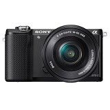 SONY Mirrorless Digital Camera [ILCE-5000L/B] - Black (Merchant) - Camera Mirrorless